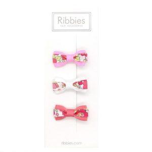Set of 3 Liberty Bows - Betsy Red - Set liberty rose blanc rose LR 1024x1024 500x500