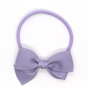 Small Bow Elastic – Pale Grey Blue