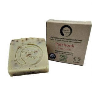 Organic Solid Soap – Patchouli with Hibiscus Flowers 100g (Full carton – 24 pieces)