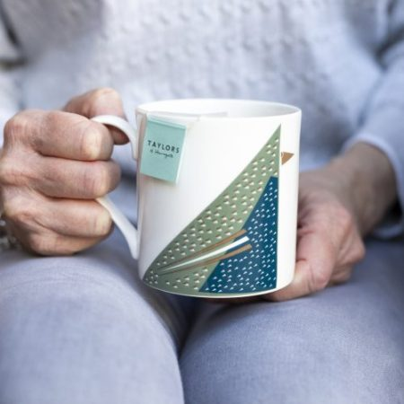 Fine bone china mug with Starling print