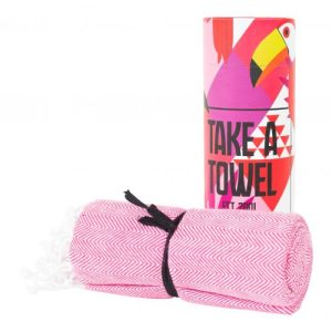 Take A Towel Hammam towel fouta cloth pink Toekan TAT 4-2