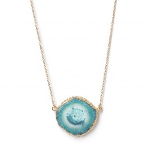 YYL LUXE ROSE GOLD TURQUOISE 'SOLAR POWER' GEMSTONE NECKLACE - TURQUOISE NECKLACE Exclusive 500x500