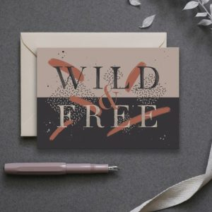 Wild and Free – Greeting Card pack of 6