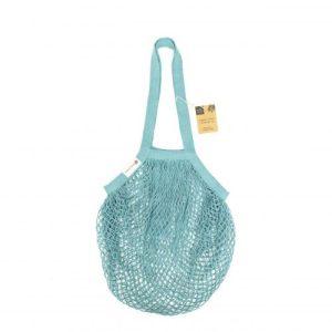 Organic Cotton Tote Bag – Blue Crochet
