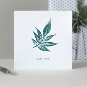 With Love Card | Botanical Print Greeting Card