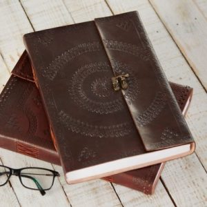Fair Trade Indra A4 Embossed Leather Journal