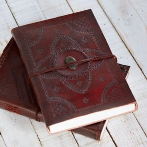 Fair Trade Indra A4 Embossed Stone Leather Journal