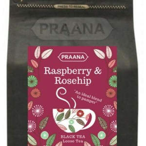 Black Tea with Raspberry and Rosehip pieces – Retail Pack 100g ( Pack of 6)