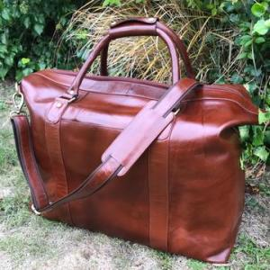 Alford – Luxury Leather Travel Bag / Holdall