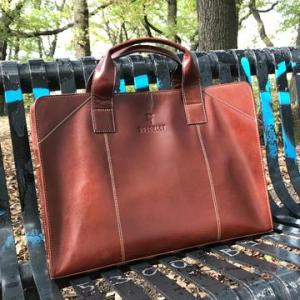 Easton – Elegant and Functional Handmade Leather Briefcase