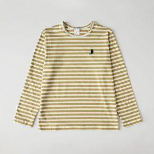 Dijon striped organic cotton Chantal human T-shirt. - chantal modelo2 02 500x500