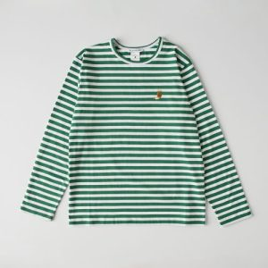 Emerald Striped Organic Cotton Chantal Human T-Shirt - chantal modelo3 02 500x500