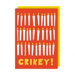 Crikey Greeting Card pack of 6 - crikey env 500x500