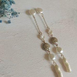 Multi Drop Dangle Mother of Pearl Earrings - di detailed 1091 370x500