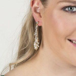 Vintage Crystal & Pearl Earrings - di detailed 814b 370x500