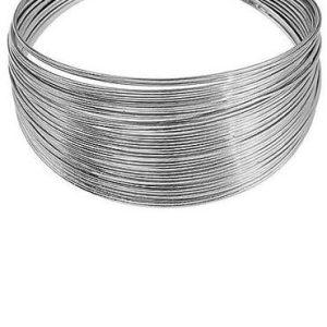 Silver Tone Coil Bangle - di detailed Emi Silver Tone Coil Bangle 47B492FRSC 370x500