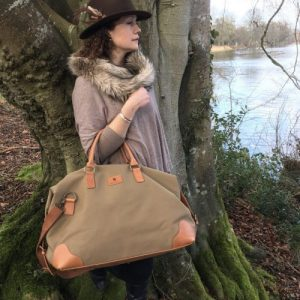 Grantham – Handmade Canvas and Leather Travel Bag / Holdall
