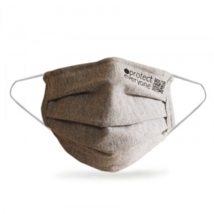 100% Organic Cotton 3 Layer Face Mask - Grey - grey masks 500x500