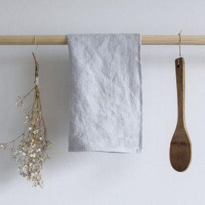 Kitchen Towel Linen Light Gray - grey linen towel22 500x500
