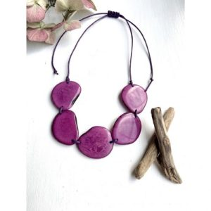 Plum Tagua 5 Bead Necklace - il 1140xN.2874338250 bgbu1 500x500