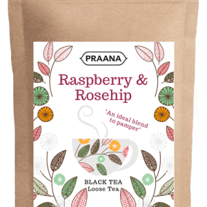 Black Tea with Raspberry and Rosehip pieces – Catering Pack 500g ( Pack of 6)