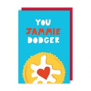Jammie Dodger Greeting Card pack of 6 - jammie env 500x500