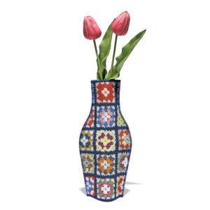 Yaya Cotton Flower vase - jarron de tela yaya granmas cotton flower vase 500x500
