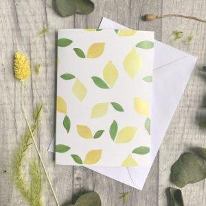 Lemons A6 card. 100% recycled