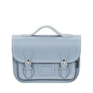 Leather Midi Satchel – Lilac Grey