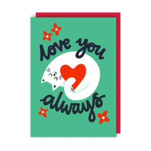 Love You Always Greeting Card pack of 6 - love you always env 500x500