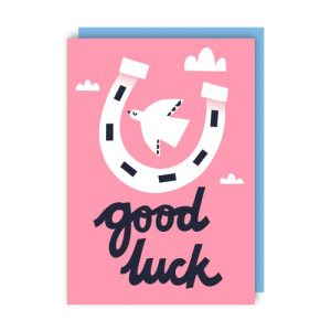 Good Luck Greeting Card pack of 6 - luck env 500x500