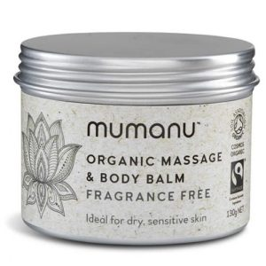 Organic Massage Oil & Body Balm – Fragrance Free – With Fairtrade Ingredients