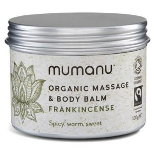 Organic Massage Oil & Body Balm – Frankincense – With Fairtrade Ingredients