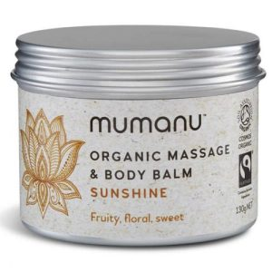 Organic Massage Oil & Body Balm – Sunshine – With Fairtrade Ingredients