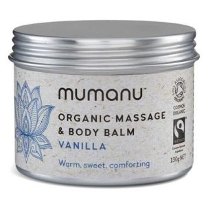 Organic Massage Oil & Body Balm – Vanilla – With Fairtrade Ingredients