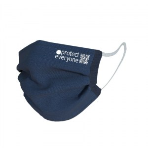 100% Organic Cotton 3 Layer Face Mask - Navy - navy masks 500x500