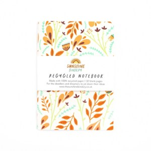 Folk Florals A6 Recycled Notebook