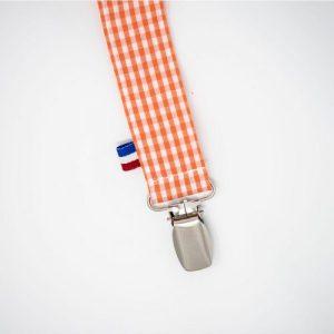 Teddy pacifier clip - Vichy - papate attache tetine bio teddy 500x500