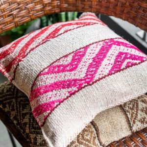 Pink & Red – Cuzco Vintage Cushion