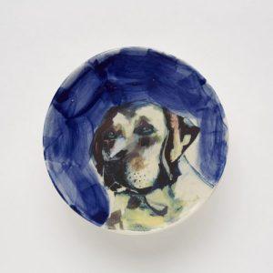 Blue Labrador Plate