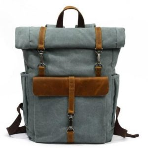 Brussels Lake Green Roll up retro backpack