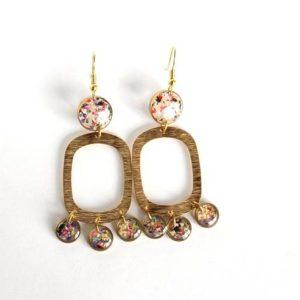 Queen Anne's Lace Statement Earrings