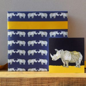 Rhino Gift Wrap – 25 sheets (Matching cards available)