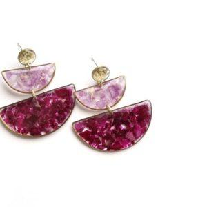 Rose statement earrings