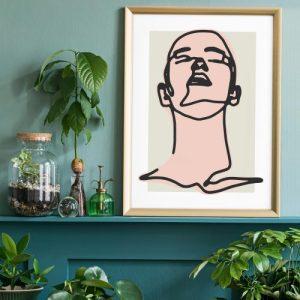 Male Study Line Art Print