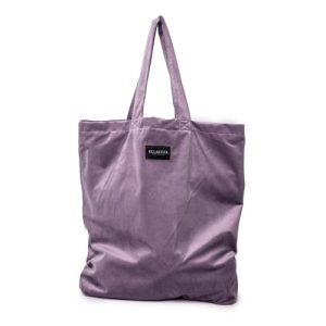 Ellastiek dames tassen – dames shopper met zijvakje + rits – XL formaat – Lila Velvet – handmade in Amsterdam (XL bag Pip)