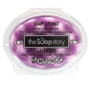 Lavender Soap Sponge 150g - Pack of 6 - the soap story lavender soap sponge 150g p66 960 image1 500x500