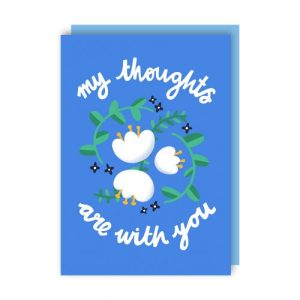 With You Sympathy Greeting Card pack of 6 - with you env 500x500