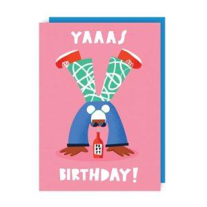Yaas Birthday Greeting Card pack of 6 - yaas env 500x500