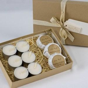 3 Wax Melts & 6 Unscented Tea Lights Gift Set